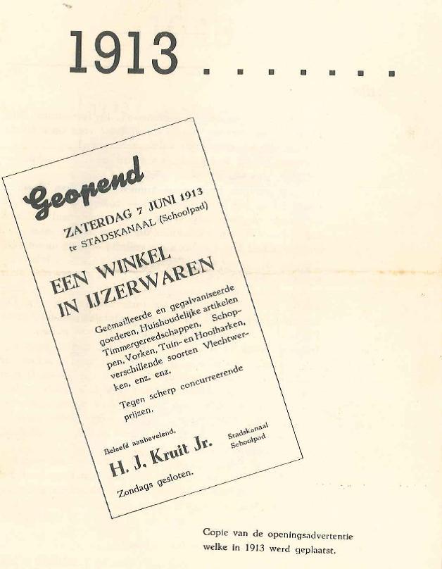 Het jaar 1913